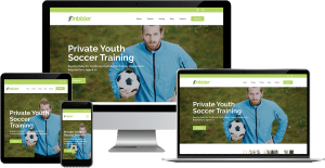 soccer training company wordpress elementor web design