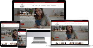 tax refund service wordpress web design